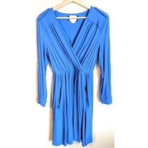 Maeve Blue Lene Crepe Dress - XS